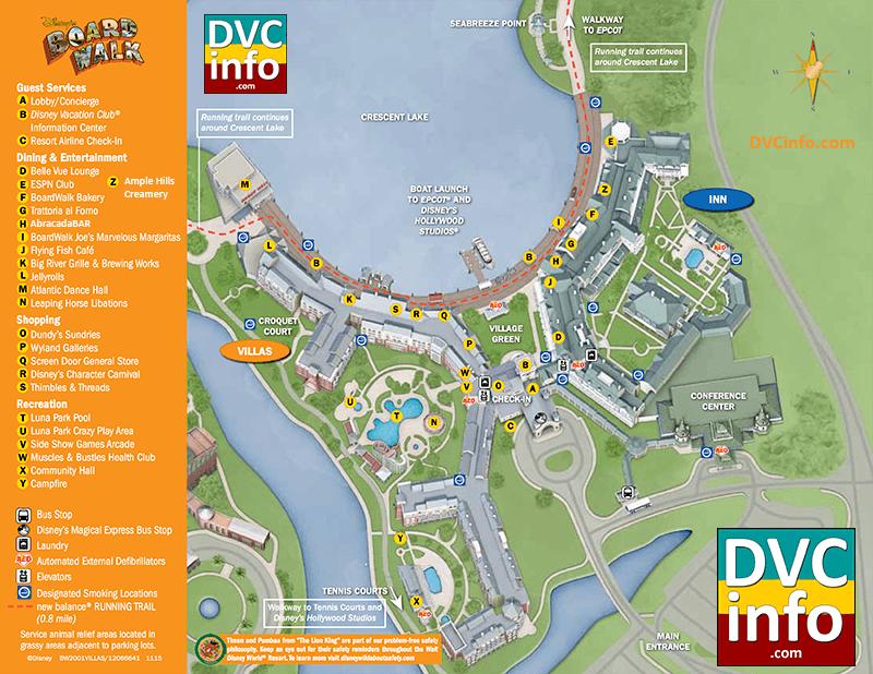Disney's BoardWalk Villas Resort Map   DVCinfo on
