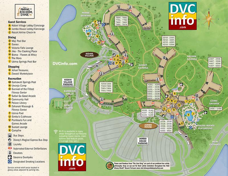Disney's Animal Kingdom Villas Resort Map   DVCinfo on