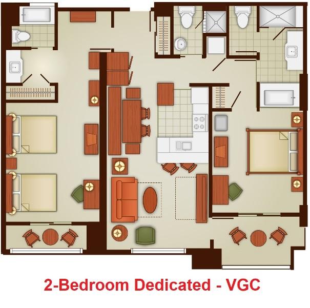 The villas at disney s grand californian hotel spa Disney grand californian 2 bedroom suite