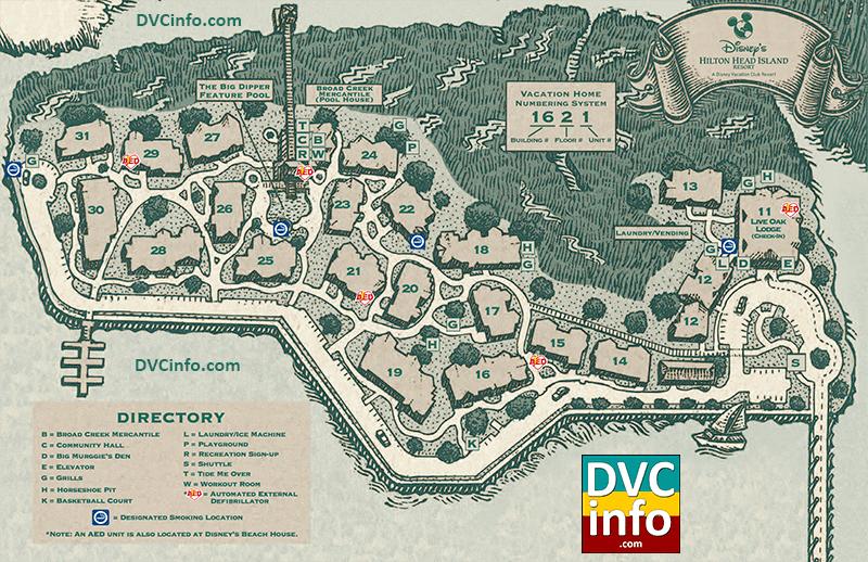 Disney's Hilton Head Island Resort Map | DVCinfo on