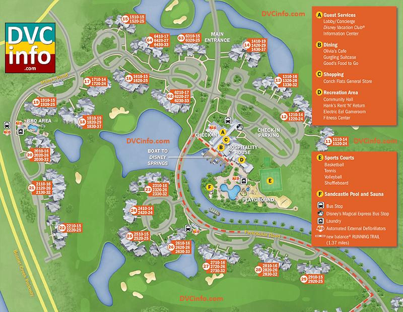 Disney S Old Key West Resort Map Dvcinfo
