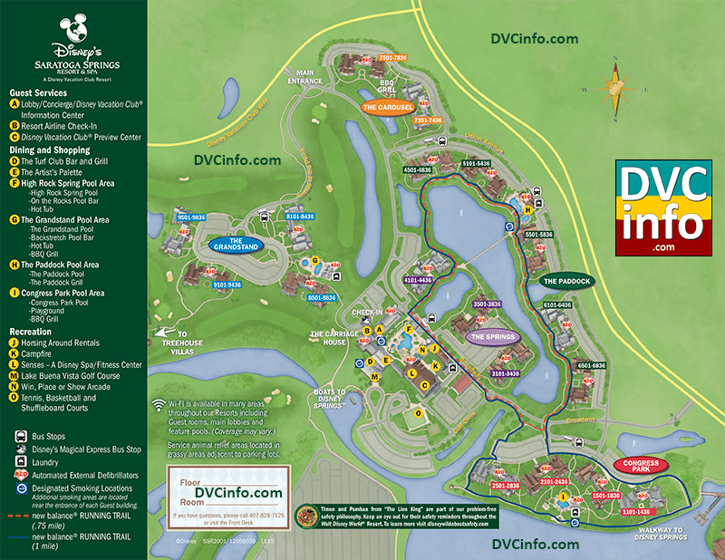 Saratoga Springs Map Disney's Saratoga Springs Resort & Spa Resort Map | DVCinfo