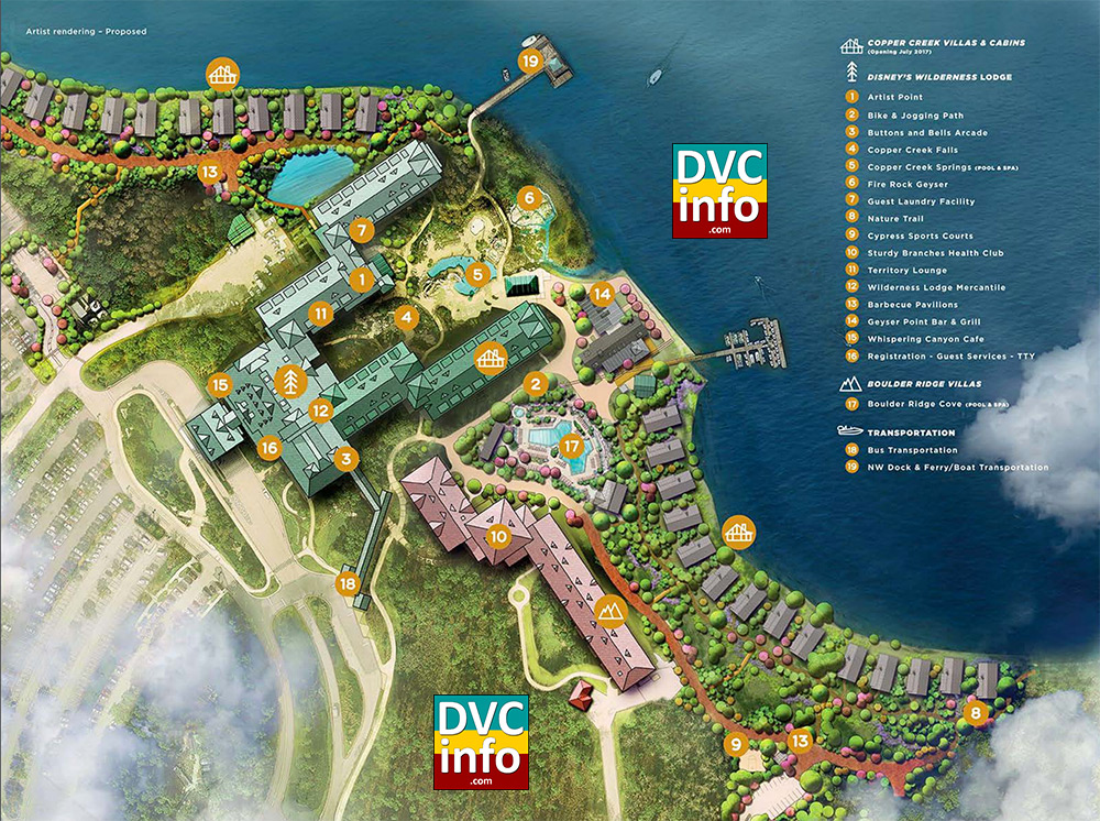 Disney S Wilderness Lodge Resort Map Dvcinfo